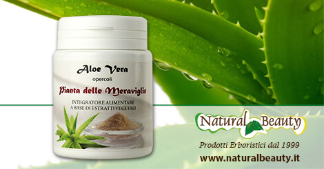 Aloe Vera Organica Estratto in Opercoli - Natural Beauty